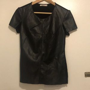 Bailey 44 faux leather top size s